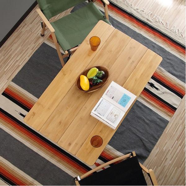 テーブル 高さ調節 可能 幅100cm 折りたたみ 在宅勤務 テレワーク アウトドア レジャー ピクニック ローテーブル キャンプ デスク バンブー FIELDOOR 送料無料|maxshare|10