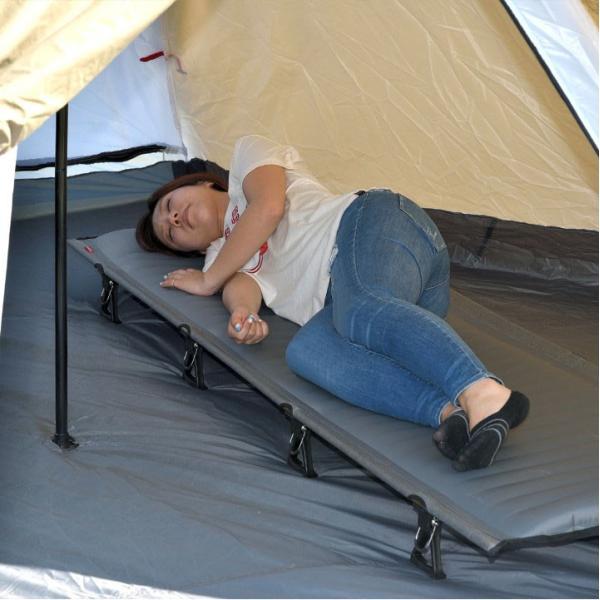 コット アウトドア キャンプ レジャーベッド キャンピングベッド 軽量 アルミ エアー ベンチ チェア おしゃれ ローコット 寝具 枕 ピロー FIELDOOR 送料無料|maxshare|14