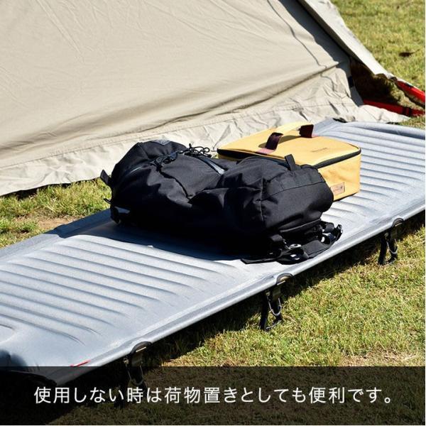 コット アウトドア キャンプ レジャーベッド キャンピングベッド 軽量 アルミ エアー ベンチ チェア おしゃれ ローコット 寝具 枕 ピロー FIELDOOR 送料無料|maxshare|18