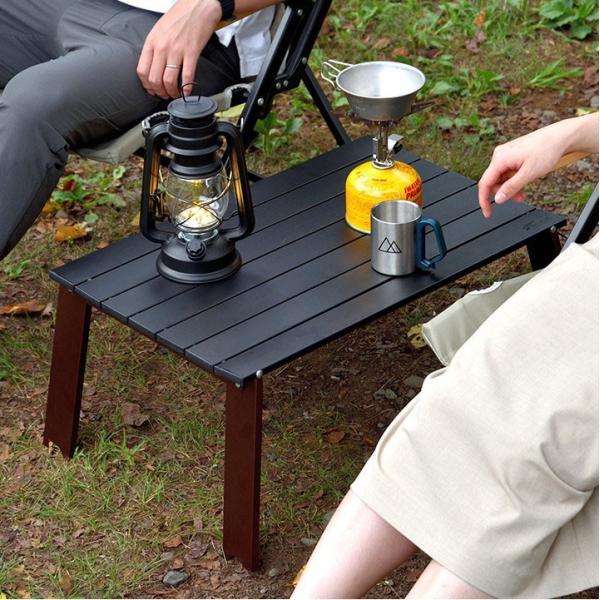 アウトドアテーブル 折りたたみ アルミ レジャーテーブル コンパクト テーブル 幅 60cm Lサイズ アルミ製 軽量 アウトドア キャンプ 折り畳み FIELDOOR 送料無料 maxshare 06