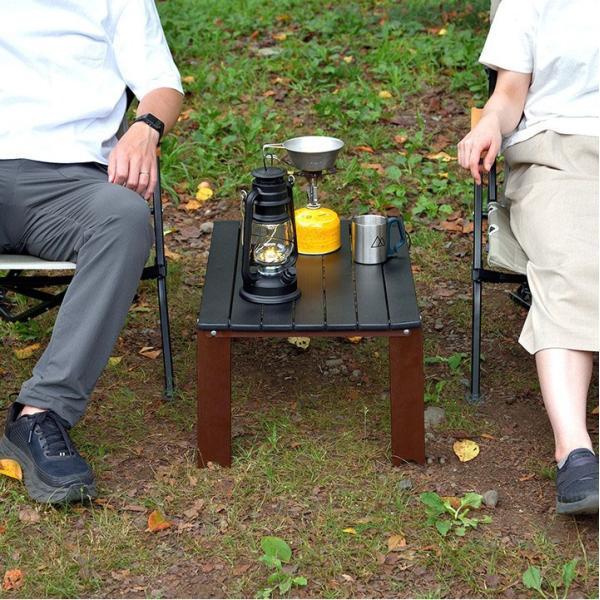 アウトドアテーブル 折りたたみ アルミ レジャーテーブル コンパクト テーブル 幅 60cm Lサイズ アルミ製 軽量 アウトドア キャンプ 折り畳み FIELDOOR 送料無料 maxshare 07