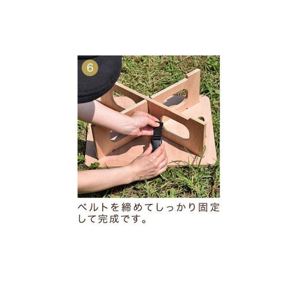 アウトドアテーブル レジャーテーブル コンパクト Sサイズ 木製 40cm ミニ レジャー テーブル 組み立て アウトドア キャンプ FIELDOOR フィールドア 送料無料|maxshare|14