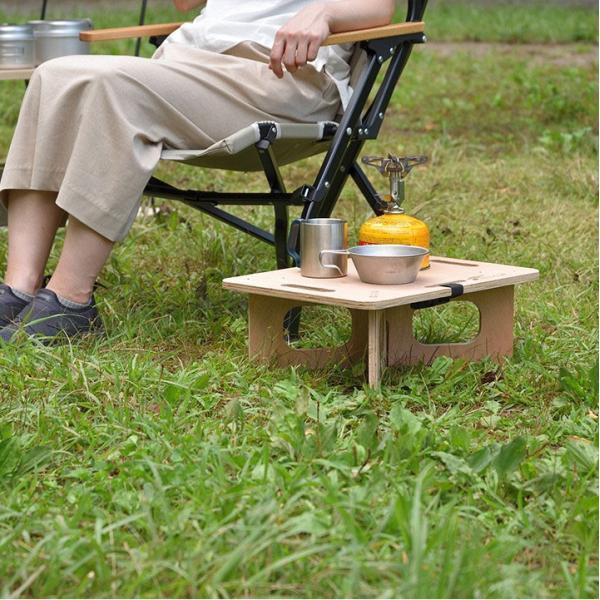 アウトドアテーブル レジャーテーブル コンパクト Sサイズ 木製 40cm ミニ レジャー テーブル 組み立て アウトドア キャンプ FIELDOOR フィールドア 送料無料|maxshare|15