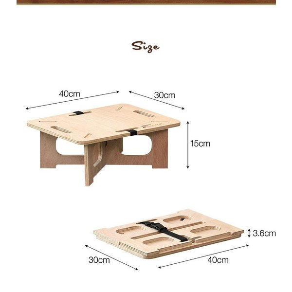 アウトドアテーブル レジャーテーブル コンパクト Sサイズ 木製 40cm ミニ レジャー テーブル 組み立て アウトドア キャンプ FIELDOOR フィールドア 送料無料|maxshare|20