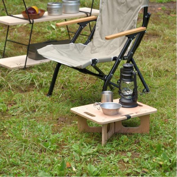 アウトドアテーブル レジャーテーブル コンパクト Sサイズ 木製 40cm ミニ レジャー テーブル 組み立て アウトドア キャンプ FIELDOOR フィールドア 送料無料|maxshare|03