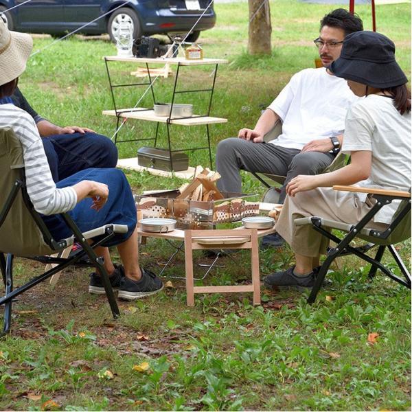 アウトドアテーブル レジャーテーブル 囲炉裏 テーブル 木製 組み立て アウトドア キャンプ 折りたたみ 焚き火 お花見 囲む FIELDOOR フィールドア 送料無料 maxshare 11