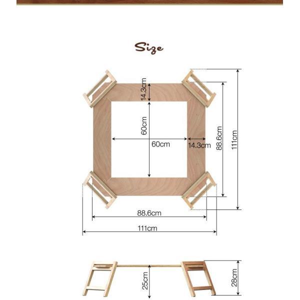 アウトドアテーブル レジャーテーブル 囲炉裏 テーブル 木製 組み立て アウトドア キャンプ 折りたたみ 焚き火 お花見 囲む FIELDOOR フィールドア 送料無料 maxshare 19