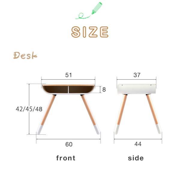 子供 デスク チェア セット 机 椅子 幼児用 キッズデスク 木製 子供用 収納付き キッズ テーブル 高さ調整 学習机 学習デスク 勉強机 RiZKiZ リズキズ 送料無料 maxshare 20