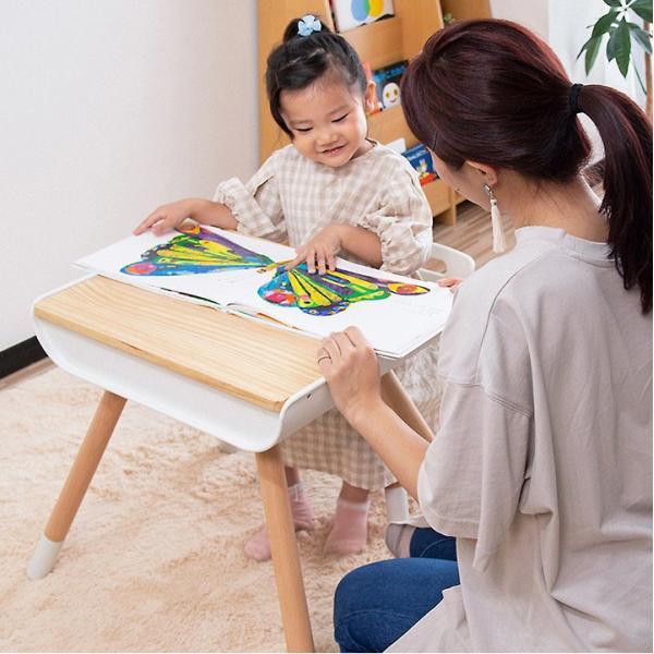 子供 デスク チェア セット 机 椅子 幼児用 キッズデスク 木製 子供用 収納付き キッズ テーブル 高さ調整 学習机 学習デスク 勉強机 RiZKiZ リズキズ 送料無料 maxshare 05