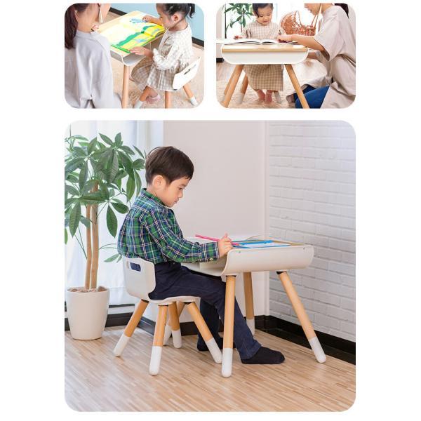 子供 デスク チェア セット 机 椅子 幼児用 キッズデスク 木製 子供用 収納付き キッズ テーブル 高さ調整 学習机 学習デスク 勉強机 RiZKiZ リズキズ 送料無料 maxshare 10