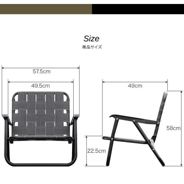 アウトドアチェア ローチェア 丸洗い 汚れに強い 折りたたみ おしゃれ ベルトチェア アルミ 軽量 キャンプ 椅子 コンパクト ポータブルチェア FIELDOOR 送料無料|maxshare|11