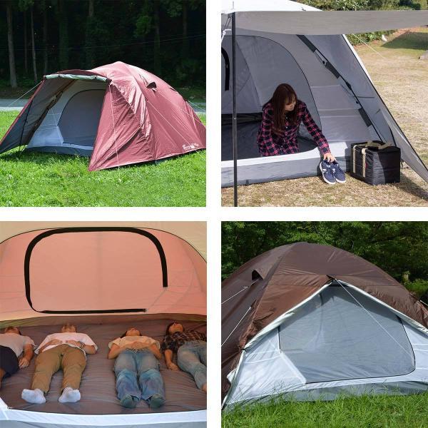 テント ドーム型テント ワンタッチ 大型 4人用 5人用 6人用 ファミリー おしゃれ 300cm キャンプ アウトドア キャノピー ポール フルクローズ FIELDOOR 送料無料|maxshare|05