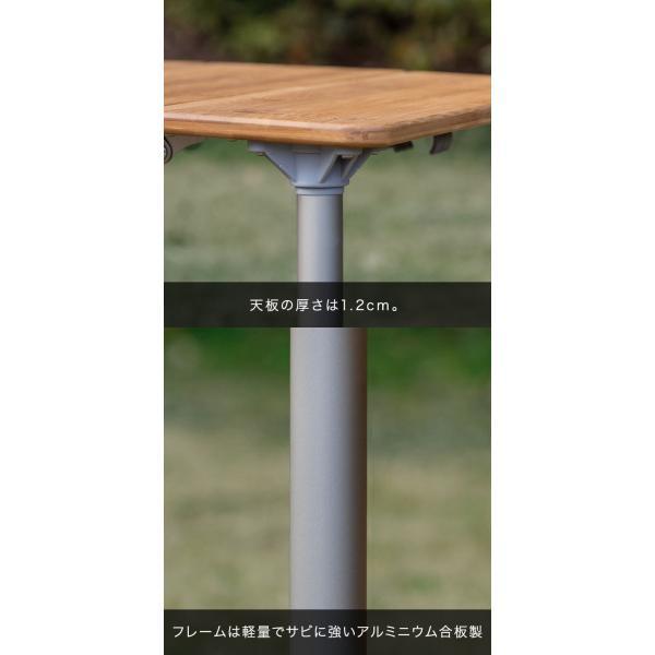 レジャーテーブル 折りたたみ 幅 60x40cm アウトドア ピクニック テーブル ローテーブル バンブー 竹 アウトドアテーブル キャンプ 高さ調節 FIELDOOR 送料無料 maxshare 13