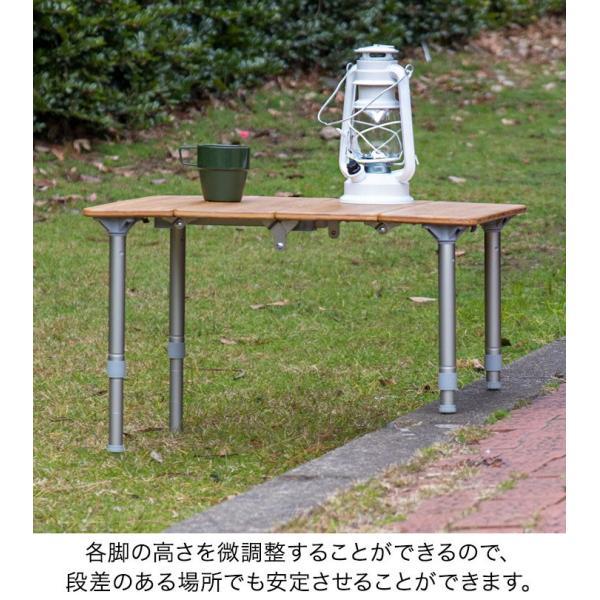 レジャーテーブル 折りたたみ 幅 60x40cm アウトドア ピクニック テーブル ローテーブル バンブー 竹 アウトドアテーブル キャンプ 高さ調節 FIELDOOR 送料無料 maxshare 08