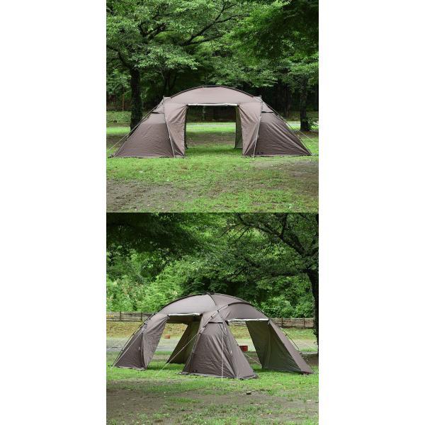 テント ドーム型 ファミリー 2ルームテント 560 ドームテント 560cm × 260cm 大型 4人用 5人用 6人用 シェルターテント 耐水 遮熱 UVカット FIELDOOR 送料無料 maxshare 11