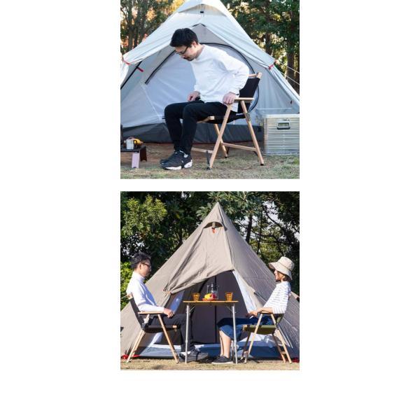 アウトドアチェア チェア アームチェア 2脚セット アウトドア キャンプ 肘掛け 折りたたみ 椅子 ハイタイプ クラシックチェア アームレスト FIELDOOR 送料無料 maxshare 07