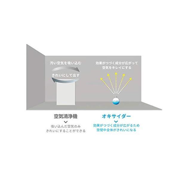 空間除菌 置き型 OXIDER オキサイダー 二酸化塩素ゲル剤 180g [~13畳用] maxtower 05