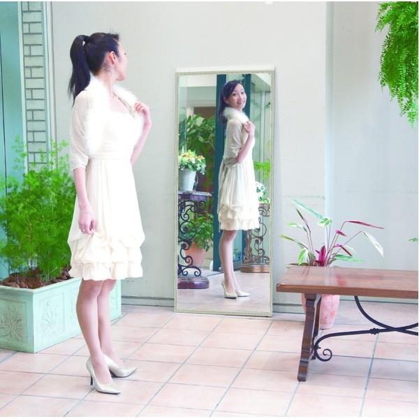 プロ仕様 割れない鏡 〔REFEX〕リフェクス クアードロミラー(額縁) 姿見 W44.8cm×154.8cm×3.4cm 四方飾縁 W2.8cm シルバー〔日本製〕