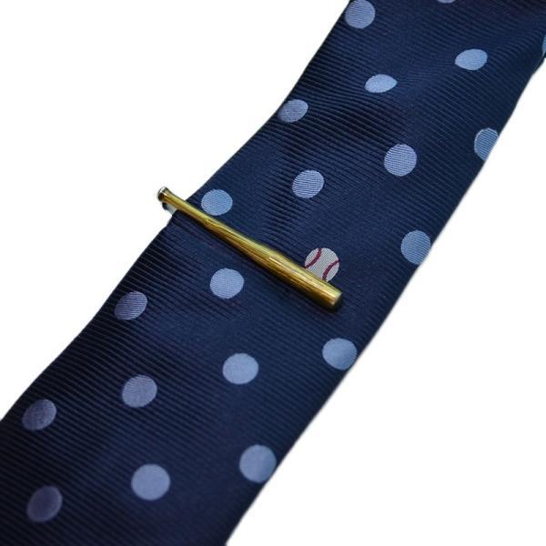 WEB会議 テレワーク クールビズ ギフト プレゼント SWANK タイピン&ネクタイセット05(野球) mays-jewelry
