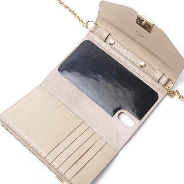 セリーヌ CELINE フォン クラッチ C セー iPhone X、XS  スマホケース ベージュ レディース 10c54-3blj-03nd|mb-y|05