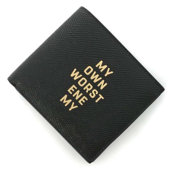 セリーヌ CELINE 2つ折り財布 小銭入れ付き MY OWN WORST ENEMY ブラック メンズ 10c87-3chr-38no