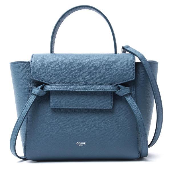 f7941dc1e22f セリーヌ CELINE ハンドバッグ 2WAY Belt Bag Nano ベルトバッグ ブルー レディース 18900-3zva-07su