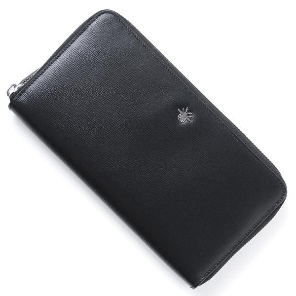 9f53041a5614 ディオールオム Dior HOMME ラウンドファスナー 長財布 小銭入れ付き ブラック メンズ ウォレット 財布 ギフト プレゼント  2abbh029xxt-h00n