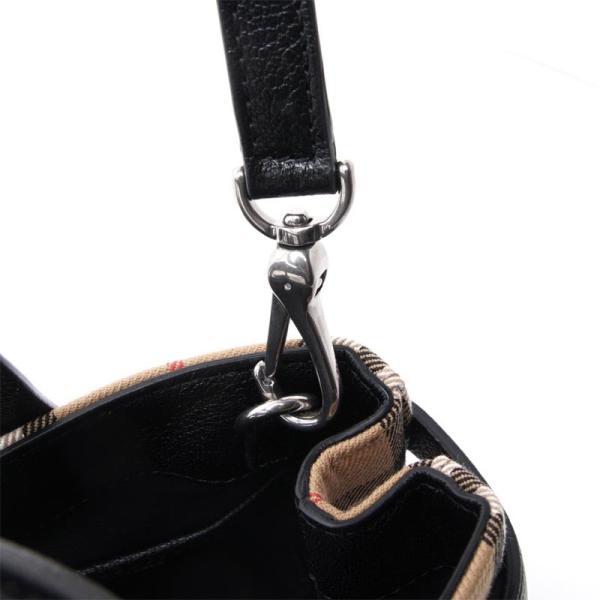 バーバリー BURBERRY ハンドバッグ 2WAY SMALL BANNER スモール バナー ブラック レディース 4076948-black