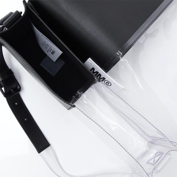 エムエム 6 メゾンマルジェラ MM6 Maison Margiela ショルダーバッグ ハーフアンドハーフ ブラック レディース s41ui0062-p0299-h6516