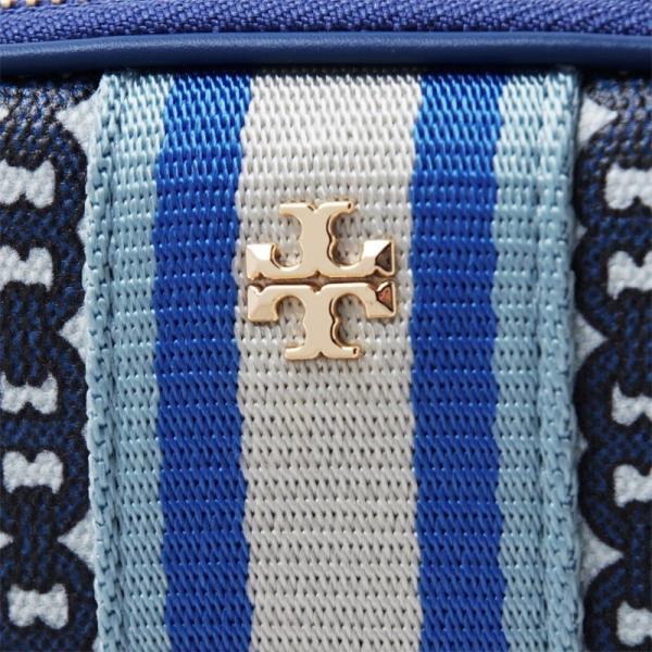 トリーバーチ TORY BURCH ポーチ GEMINI LINK ジェミニ リンク ブルー レディース 55312-453