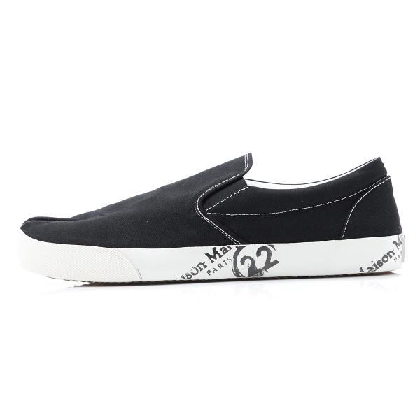 メゾンマルジェラ Maison Margiela スリッポン シューズ 22 女性と男性のための靴のコレクション TABI タビ スニーカー ブラック 大きいサイズあり メンズ|mb-y|03