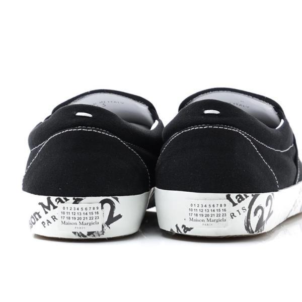 メゾンマルジェラ Maison Margiela スリッポン シューズ 22 女性と男性のための靴のコレクション TABI タビ スニーカー ブラック 大きいサイズあり メンズ|mb-y|07
