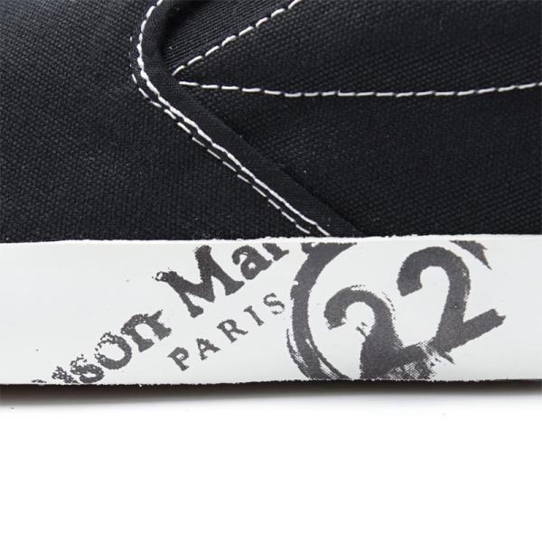 メゾンマルジェラ Maison Margiela スリッポン シューズ 22 女性と男性のための靴のコレクション TABI タビ スニーカー ブラック 大きいサイズあり メンズ|mb-y|09