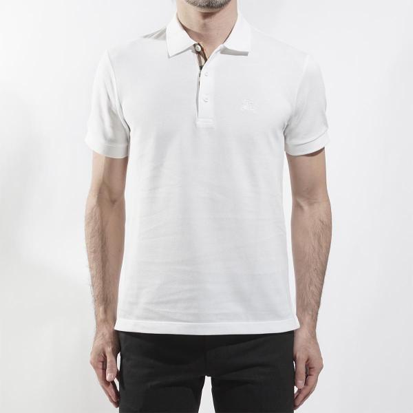 バーバリー BURBERRY ポロシャツ ホワイト メンズ 8000919-white|mb-y|02