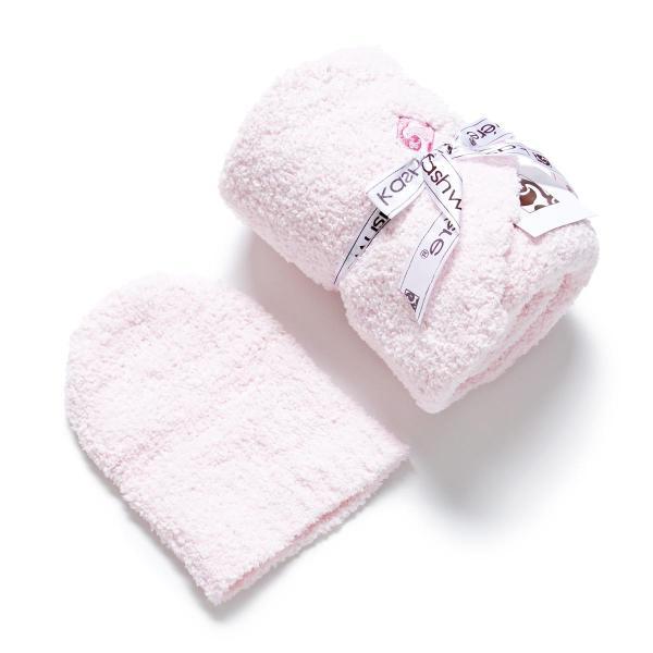 カシウエア Kashwere ベビーブランケット&キャップ ピンク bb-63c-07-30-pink