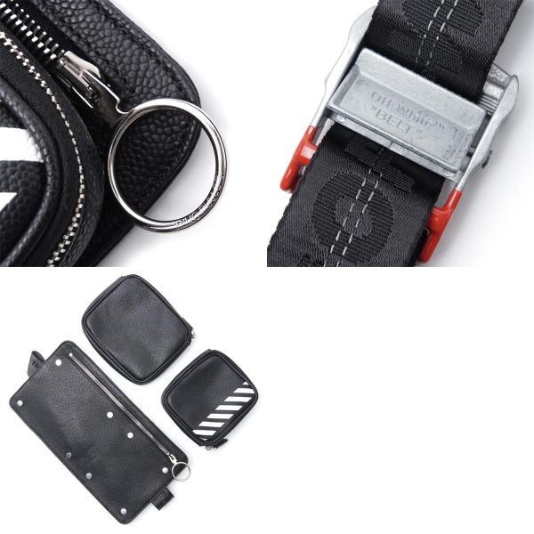オフホワイト Off-White ボディバッグ DIAGONAL ディアゴナル ブラック メンズ omna038r19c44032-1001