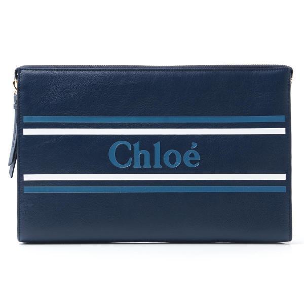 クロエ Chloe ポーチ VICK クラッチバッグ レディース chc19sp068a88-49z-eclipseblue|mb-y|02