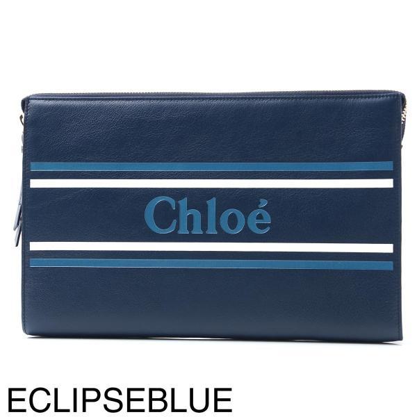 クロエ Chloe ポーチ VICK クラッチバッグ レディース chc19sp068a88-49z-eclipseblue|mb-y|08