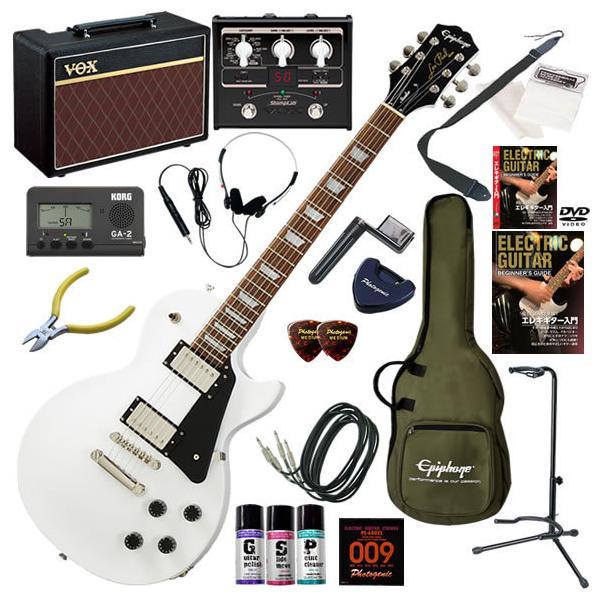 エレキギター初心者入門セットEpiphoneエピフォンLesPaulStudio/AWVOXPathfinder10とエフェクタ