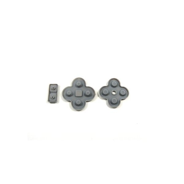 ゆうパケットニンテンドーDSLite◇ボタン用ゴムラバー3点セット◇パーツ交換修理用