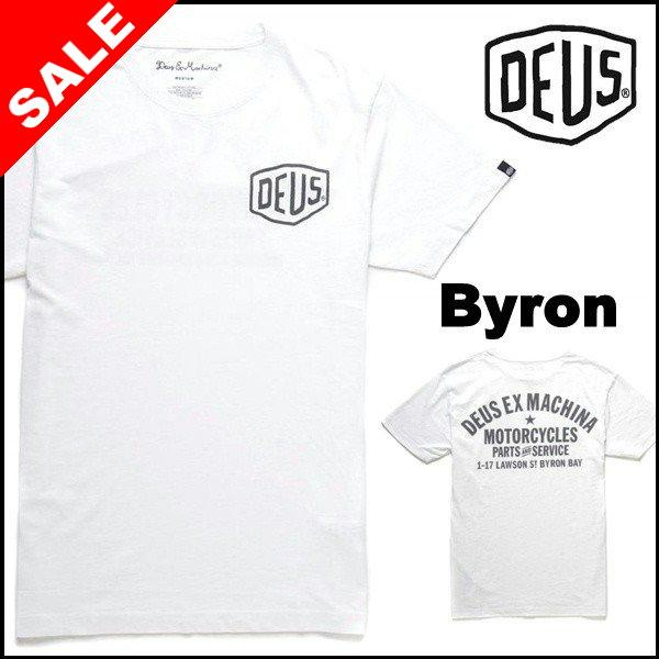 deus ex machina デウス ロゴ tシャツ byron address ホワイト deus131