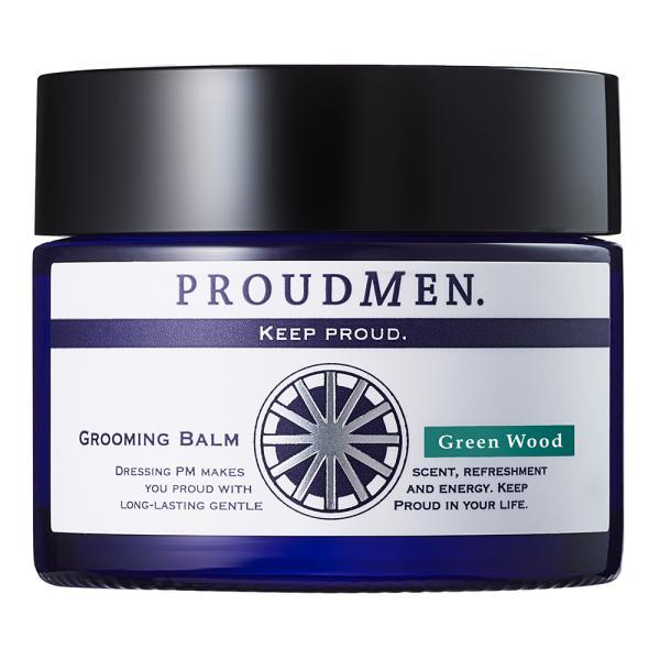 香水メンズ練り香水人気プラウドメンPROUDMENグルーミングバームGWグリーンウッド40gボディクリームいい匂い2020