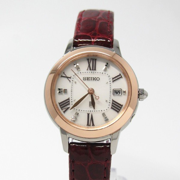 【7年保証】セイコールキア 女性用 ソーラー電波腕時計 品番:SSQW038 mcoy 02