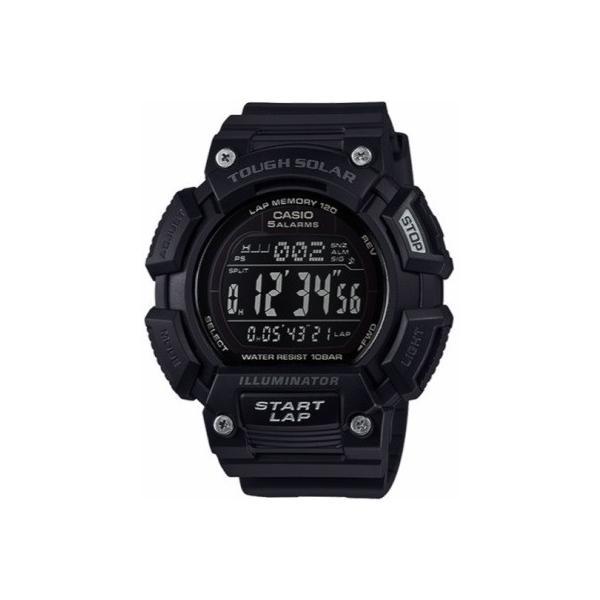 862acfcccb ランニングウォッチ カシオ スポーツウォッチ ランニング 10気圧防水 ソーラー デジタル 腕時計 ブラック 黒 (SD17JLP