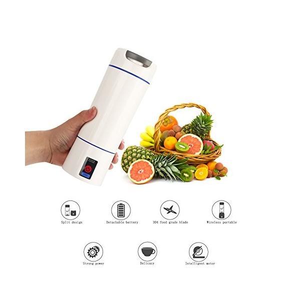 Liebeye ミリ ミキサー リットル 小型 ポータブル USB充電式 電気 多機能 野菜 フルーツ ジューサー マシン 600ml ブラック mdk-store 07