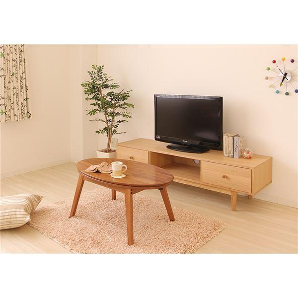 こたつテーブル(ローテーブル/センターテーブル) ノワ 本体 〔楕円形〕 幅90cm 木製 木目調