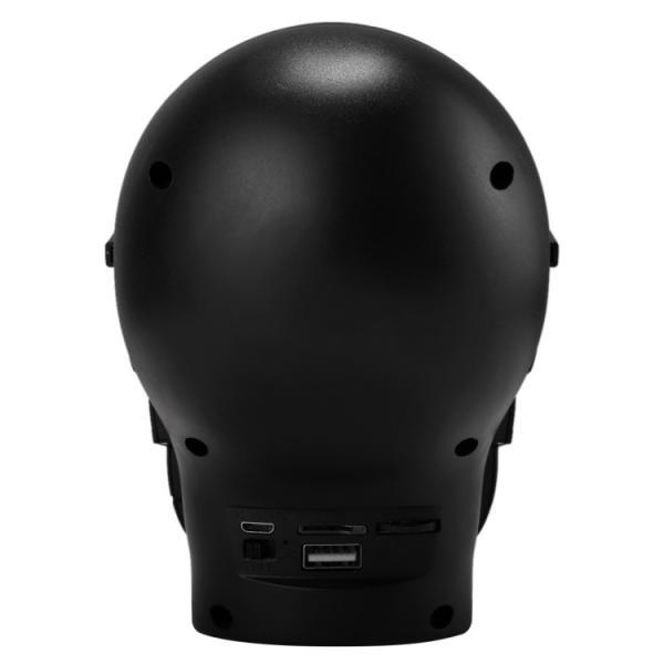 CH-M29 多機能 スカル 音楽再生 Bluetooth スピーカー LEDライト付き Black(ブラック)送料無料(DHL)