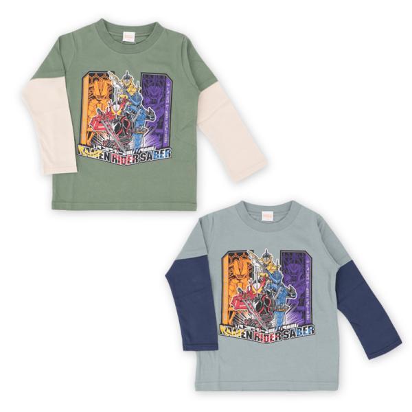 仮面ライダーセイバー服長袖Tシャツキッズ子供男の子100110120綿キャラクタープレゼント//メール便可