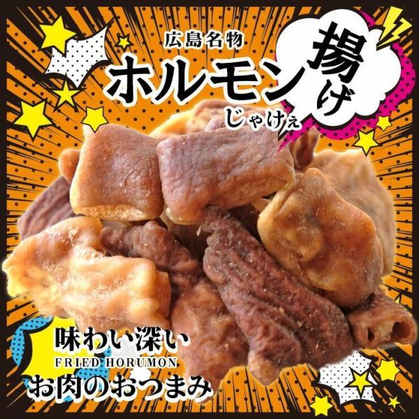 簡易包装訳あり食品おつまみ広島名物揚げホルモンミックス75g×2消化食品お試しお取り寄せグルメ肉絶品珍味