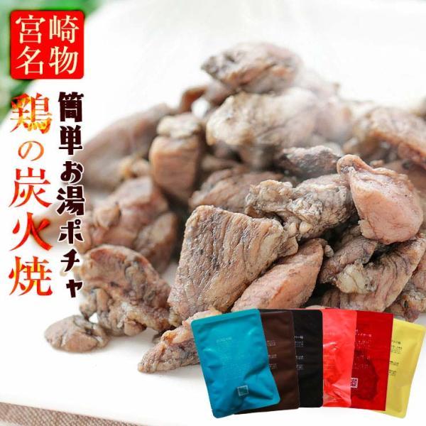 お肉のおつまみ 焼き鳥 鶏の炭火焼 100g×6 セット 鳥の炭火焼 宮崎名物 送料無料 レトルト食品 簡易包装 訳あり食品 常温保存 珍味